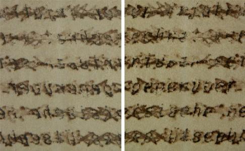 Schreibmaschinentext: durchgestrichen, überklebt - und wieder lesbar gemacht